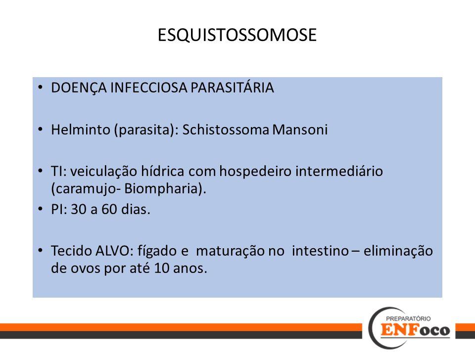 ESQUISTOSSOMOSE DOENÇA INFECCIOSA PARASITÁRIA