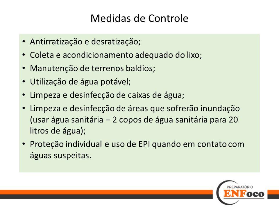 Medidas de Controle Antirratização e desratização;