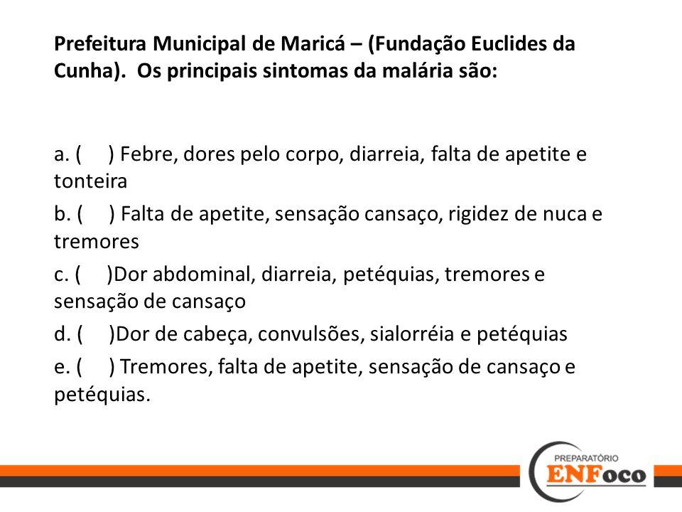 Prefeitura Municipal de Maricá – (Fundação Euclides da Cunha)