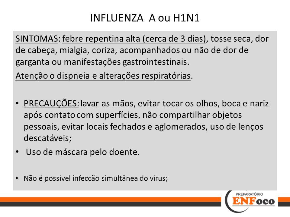 INFLUENZA A ou H1N1