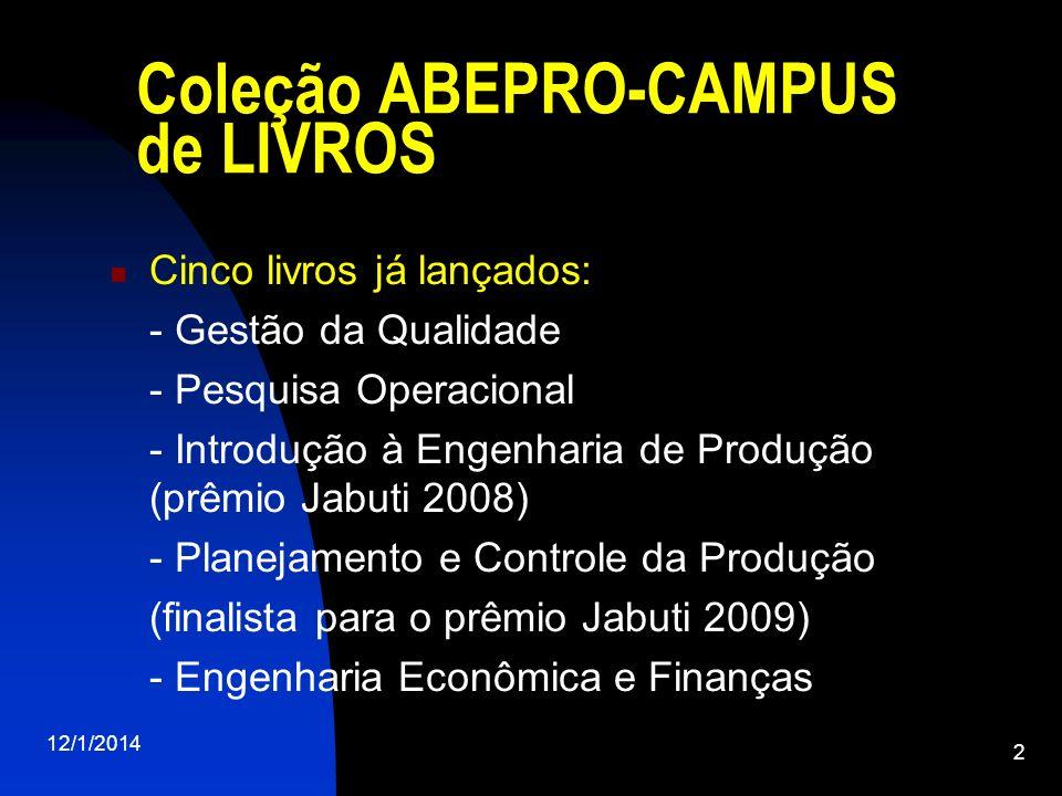 Coleção ABEPRO-CAMPUS de LIVROS