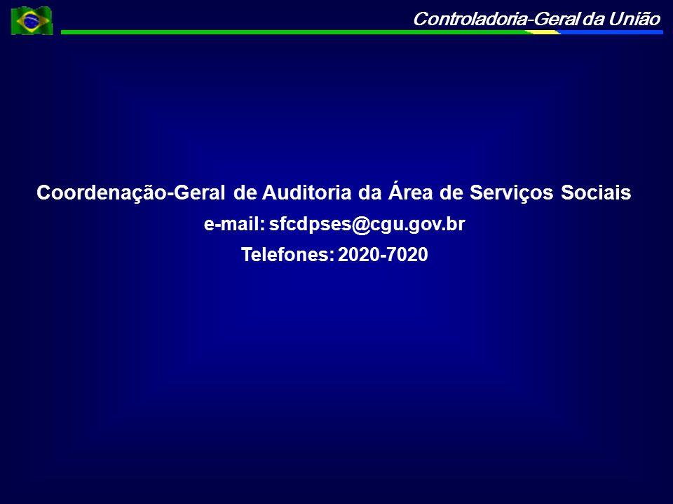 Coordenação-Geral de Auditoria da Área de Serviços Sociais