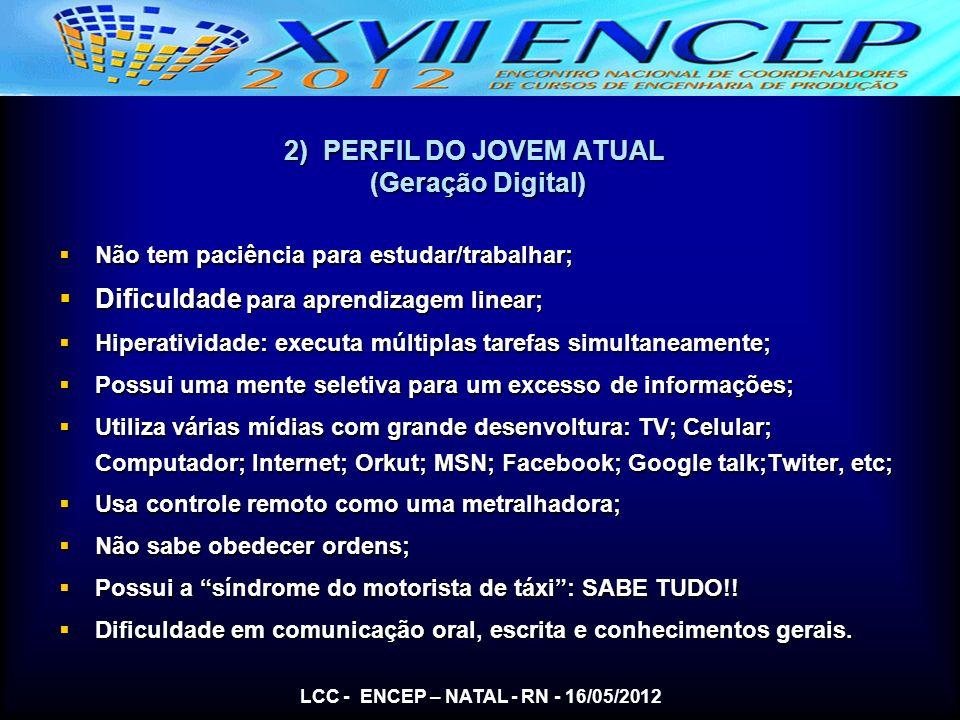 2) PERFIL DO JOVEM ATUAL (Geração Digital)