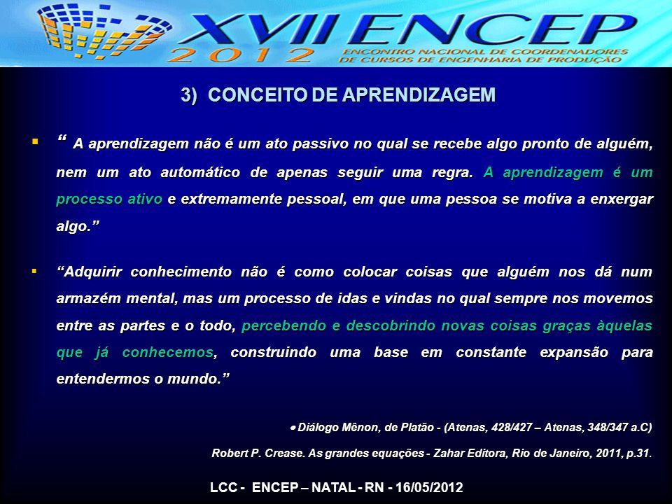 3) CONCEITO DE APRENDIZAGEM