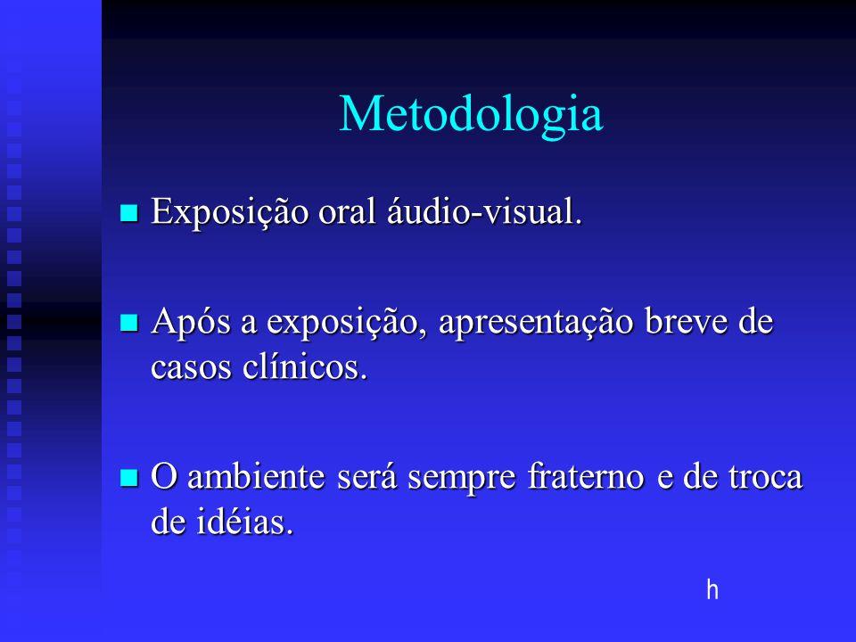 Metodologia Exposição oral áudio-visual.