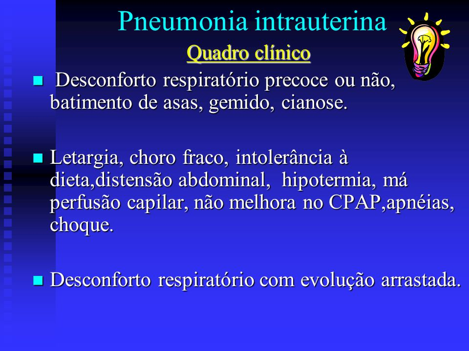 Pneumonia intrauterina