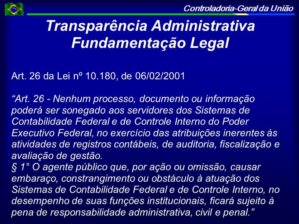 Transparência Administrativa Fundamentação Legal