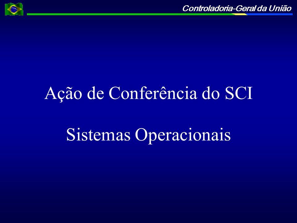 Ação de Conferência do SCI Sistemas Operacionais