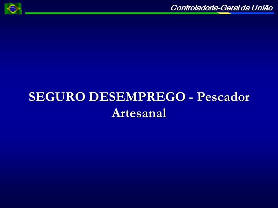 SEGURO DESEMPREGO - Pescador Artesanal