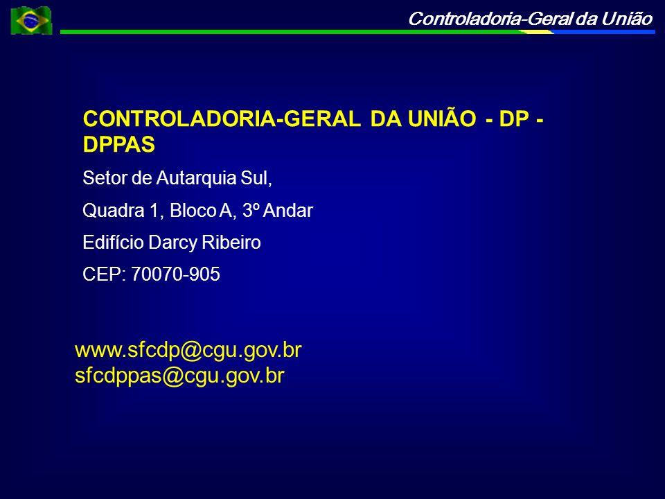 CONTROLADORIA-GERAL DA UNIÃO - DP - DPPAS