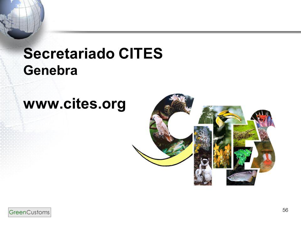 Secretariado CITES Genebra www.cites.org