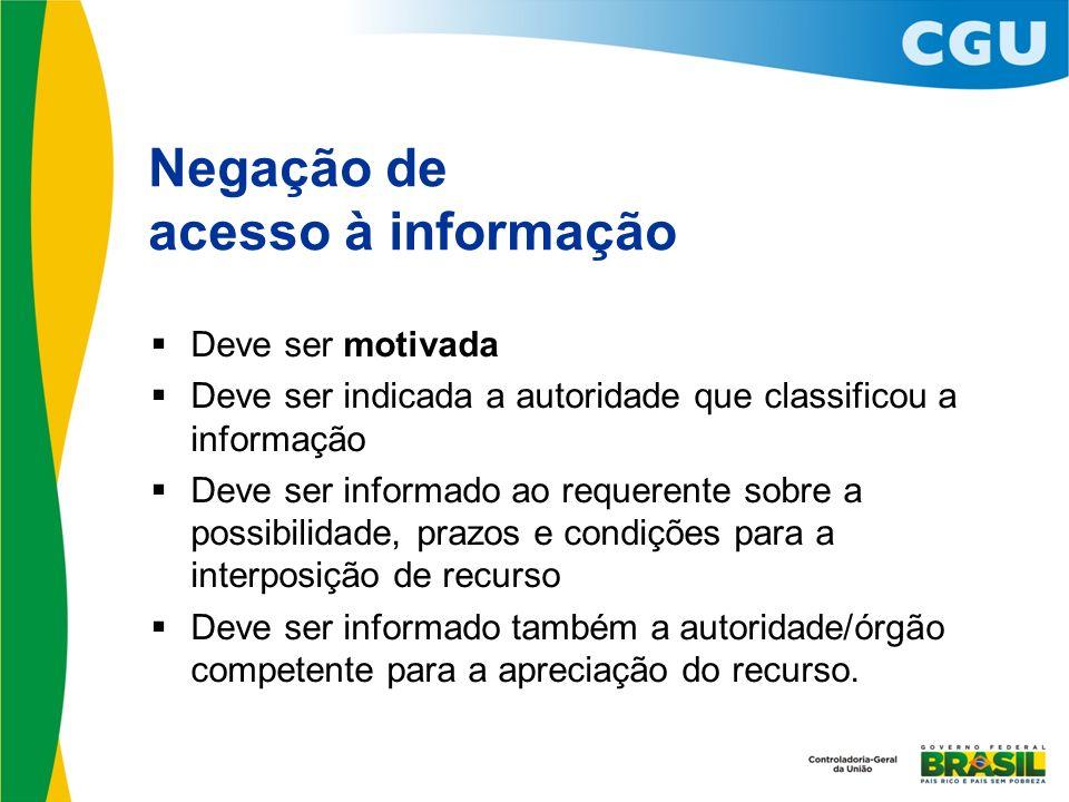 Negação de acesso à informação
