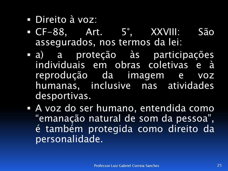 CF-88, Art. 5°, XXVIII: São assegurados, nos termos da lei: