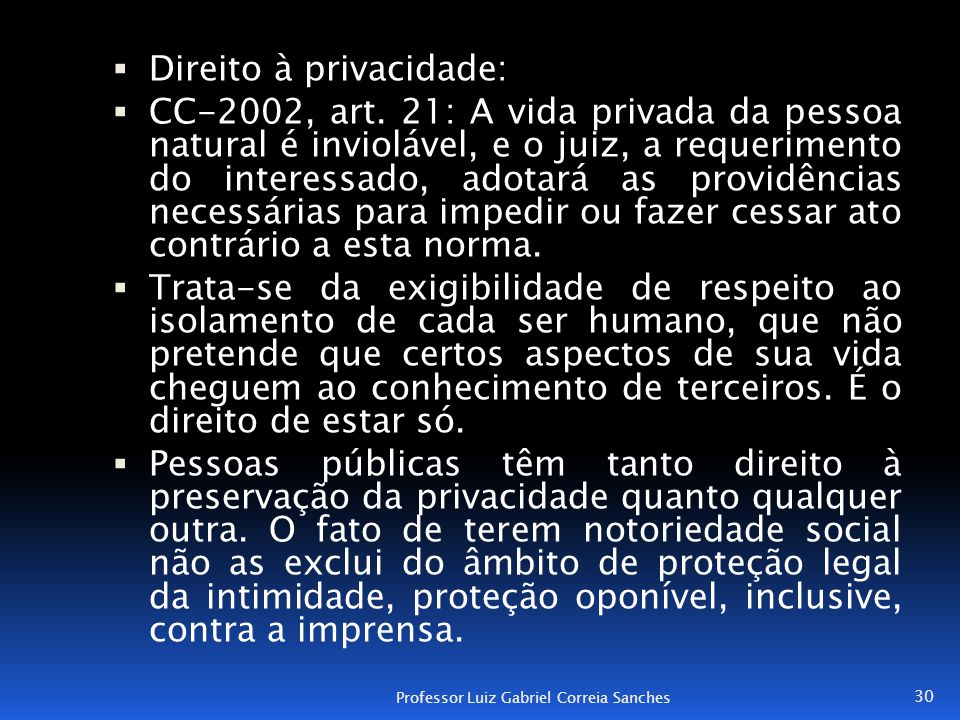 Direito à privacidade: