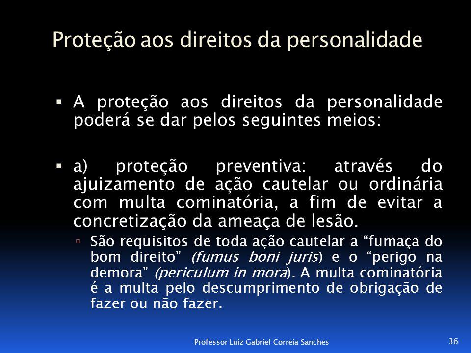 Proteção aos direitos da personalidade