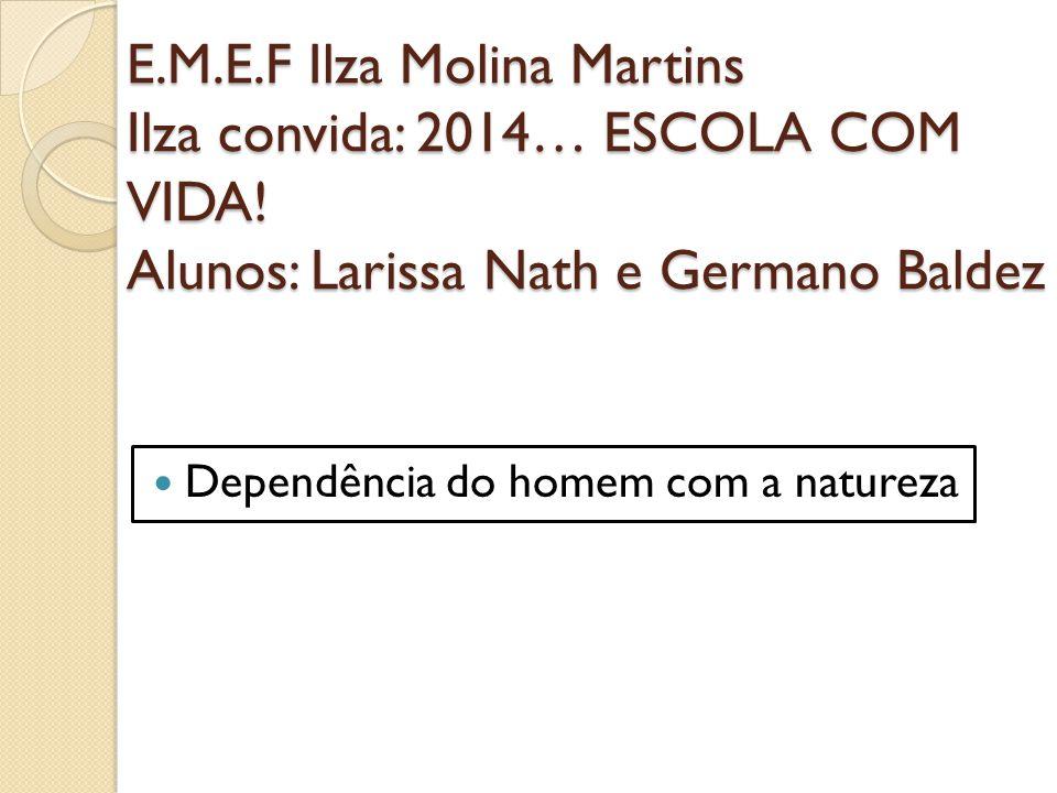 E. M. E. F Ilza Molina Martins Ilza convida: 2014… ESCOLA COM VIDA