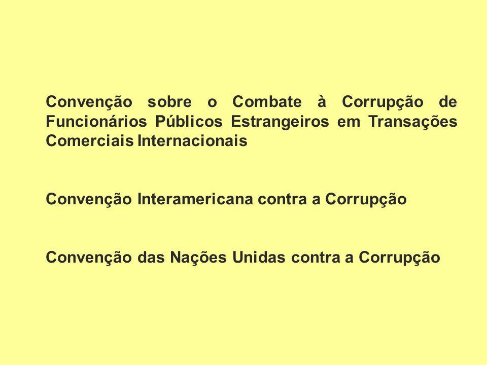 Convenção sobre o Combate à Corrupção de Funcionários Públicos Estrangeiros em Transações Comerciais Internacionais
