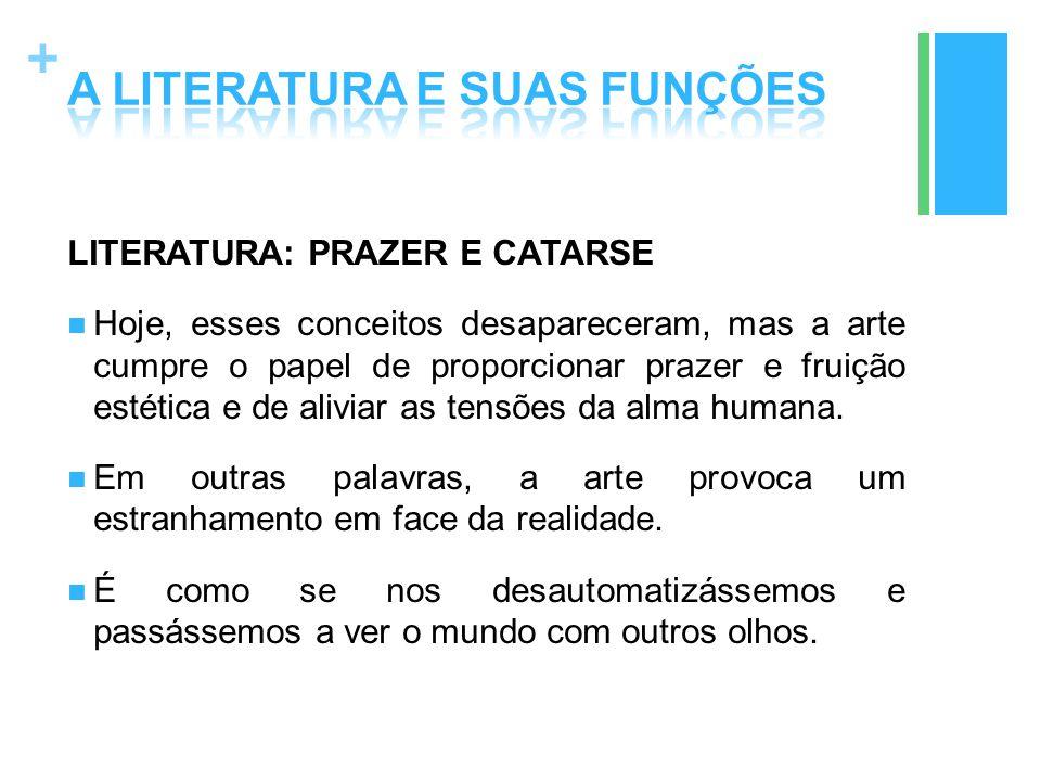 A LITERATURA E SUAS FUNÇÕES