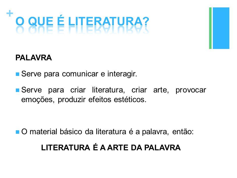 LITERATURA É A ARTE DA PALAVRA