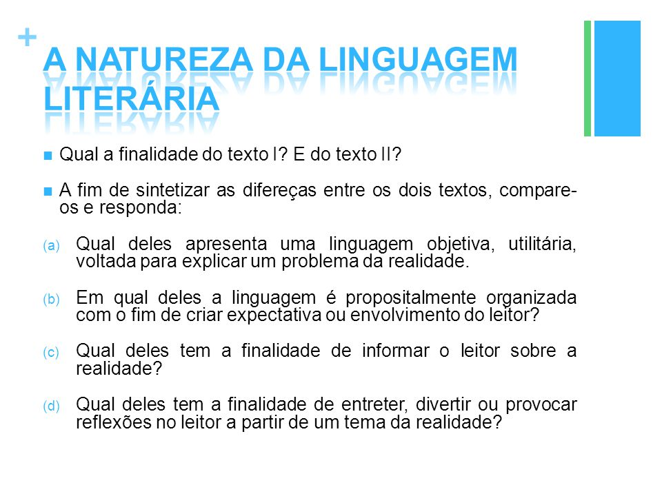 A NATUREZA DA LINGUAGEM LITERÁRIA