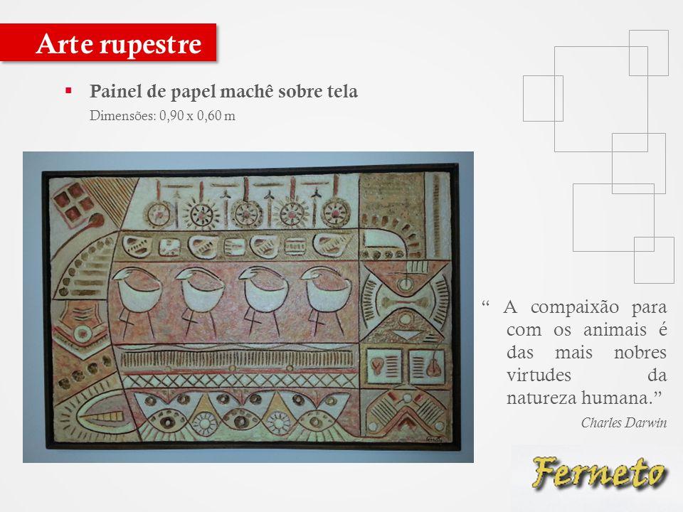 Arte rupestre Painel de papel machê sobre tela