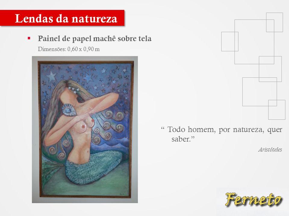 Lendas da natureza Painel de papel machê sobre tela