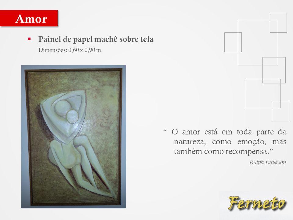 Amor Painel de papel machê sobre tela