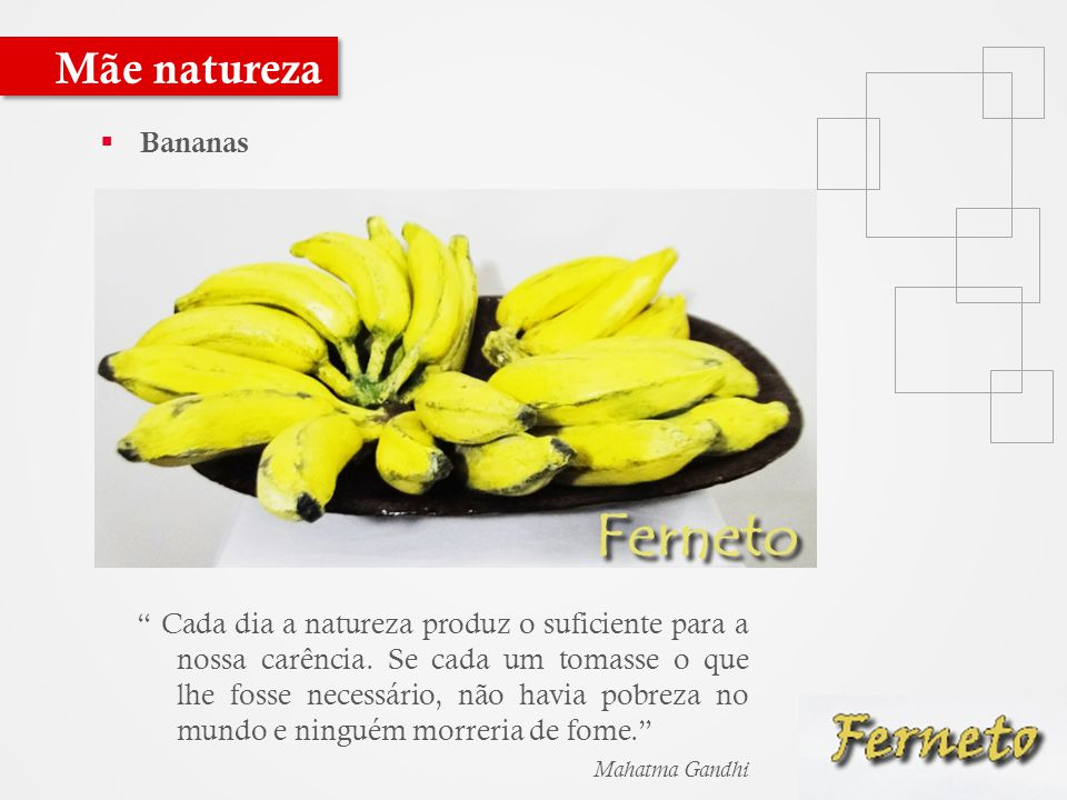 Mãe natureza Bananas.