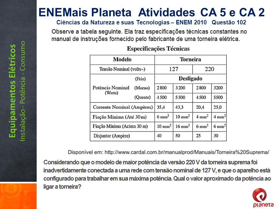 ENEMais Planeta Atividades CA 5 e CA 2