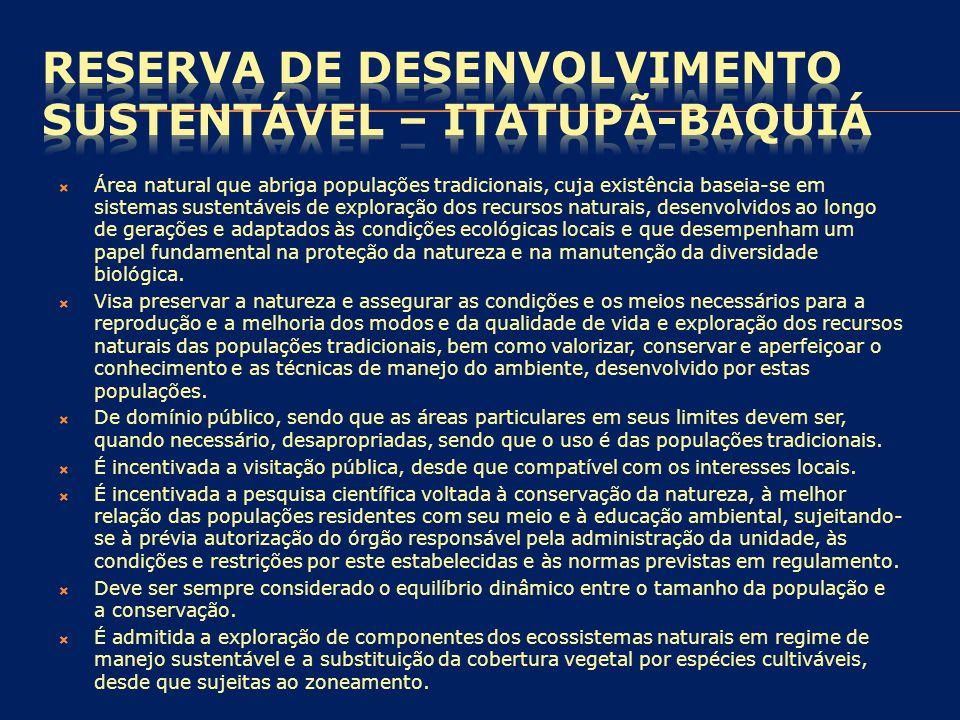 RESERVA DE DESENVOLVIMENTO SUSTENTÁVEL – Itatupã-Baquiá