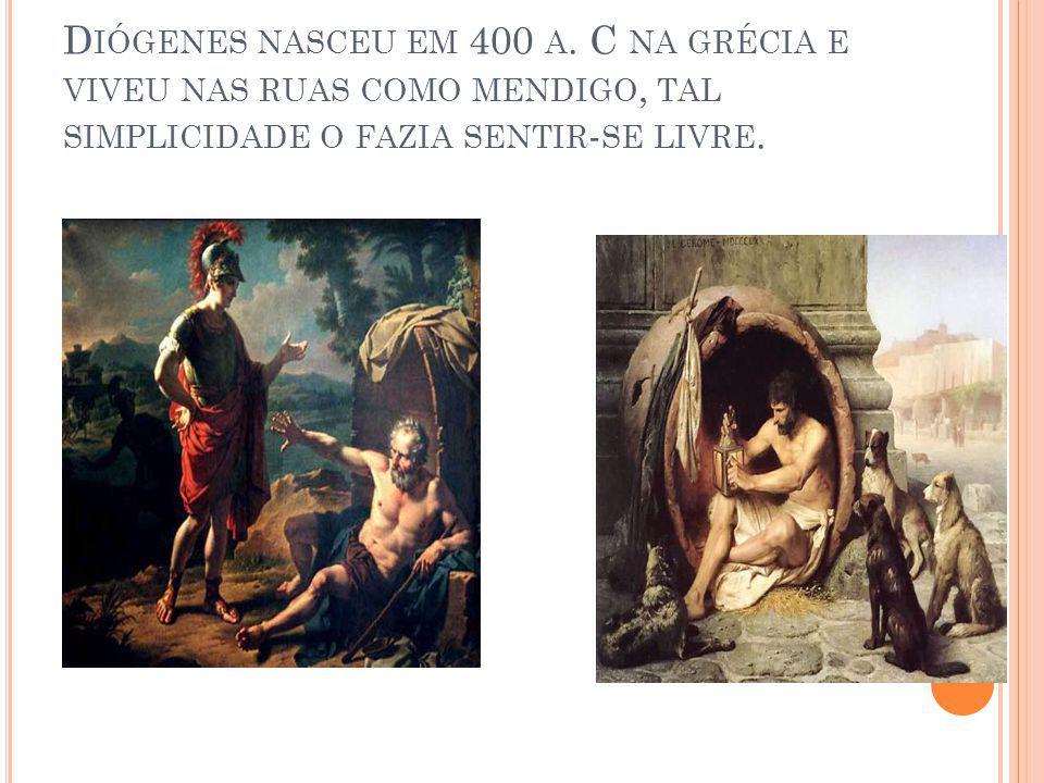 Diógenes nasceu em 400 a.