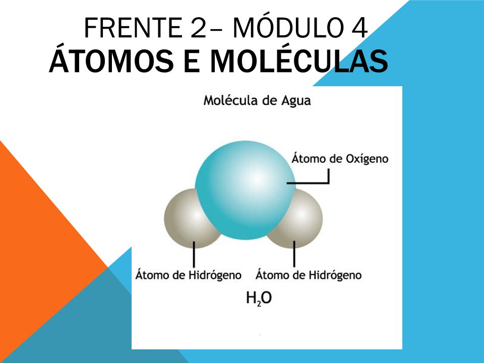 Átomos e moléculas FRENTE 2– MÓDULO 4