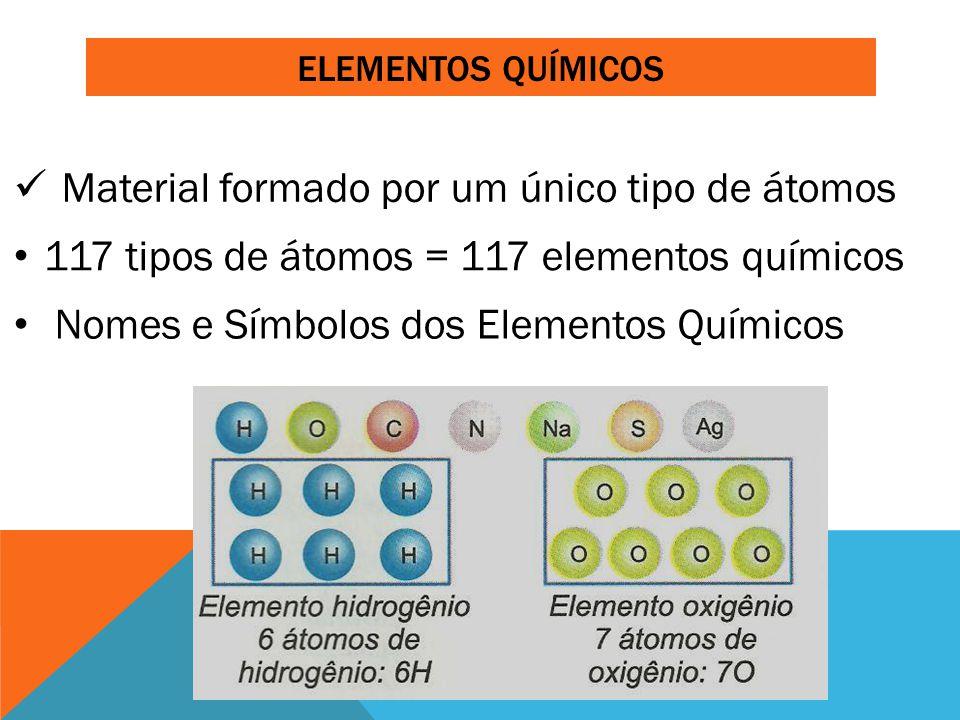 Material formado por um único tipo de átomos