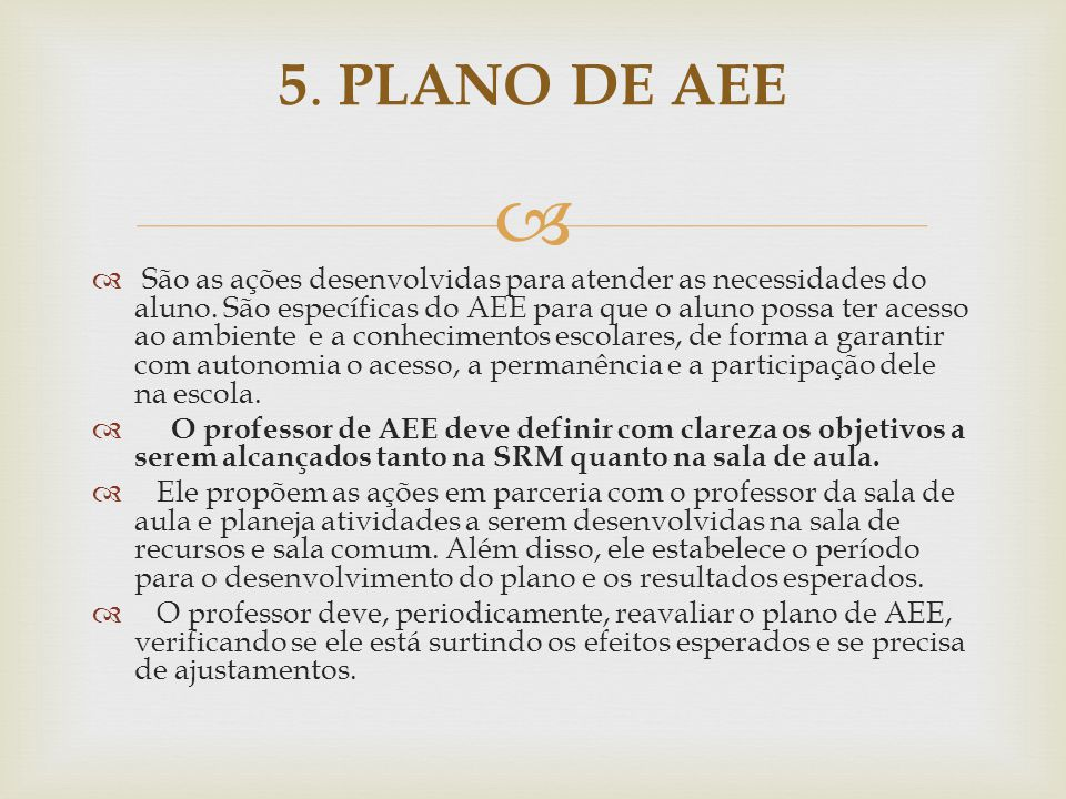 5. PLANO DE AEE