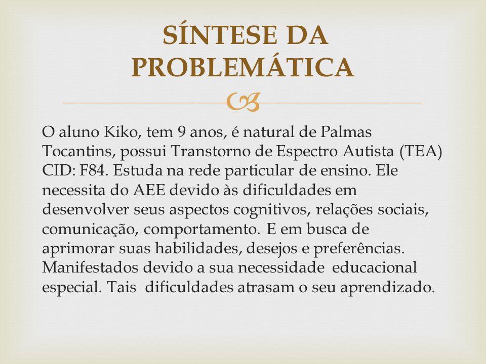 SÍNTESE DA PROBLEMÁTICA