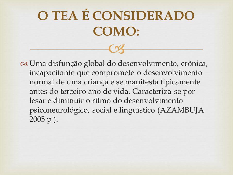 O TEA É CONSIDERADO COMO: