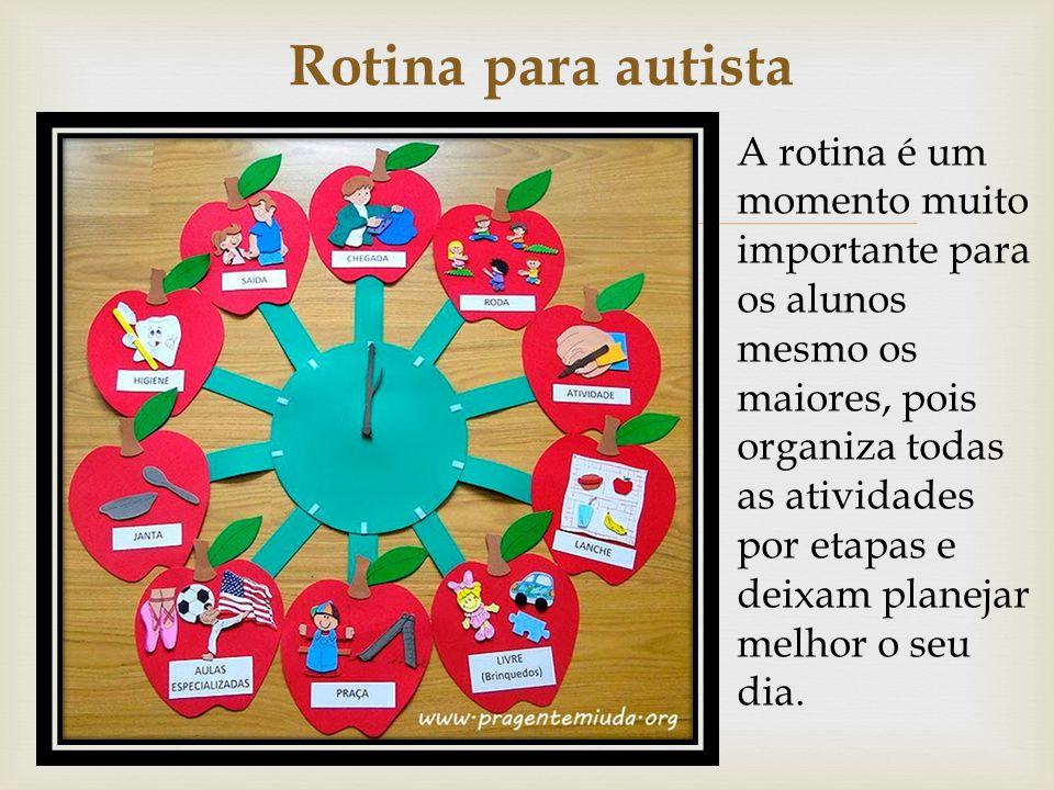Rotina para autista