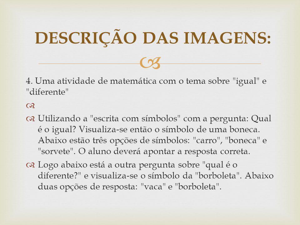 DESCRIÇÃO DAS IMAGENS: