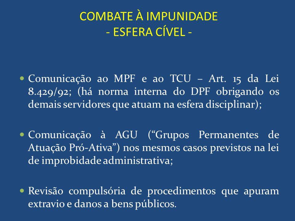 COMBATE À IMPUNIDADE - ESFERA CÍVEL -