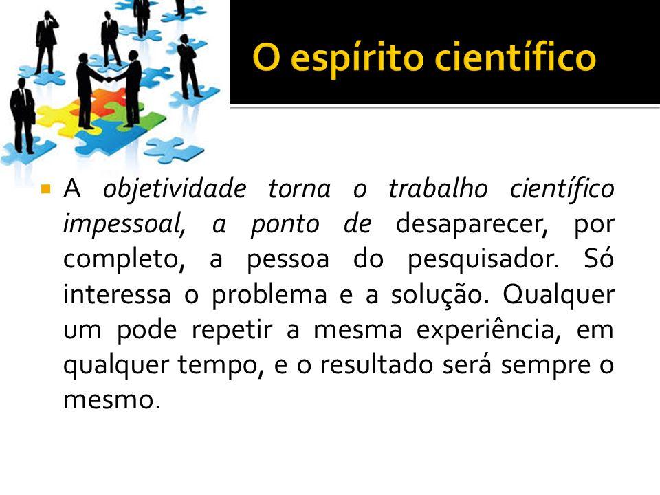O espírito científico