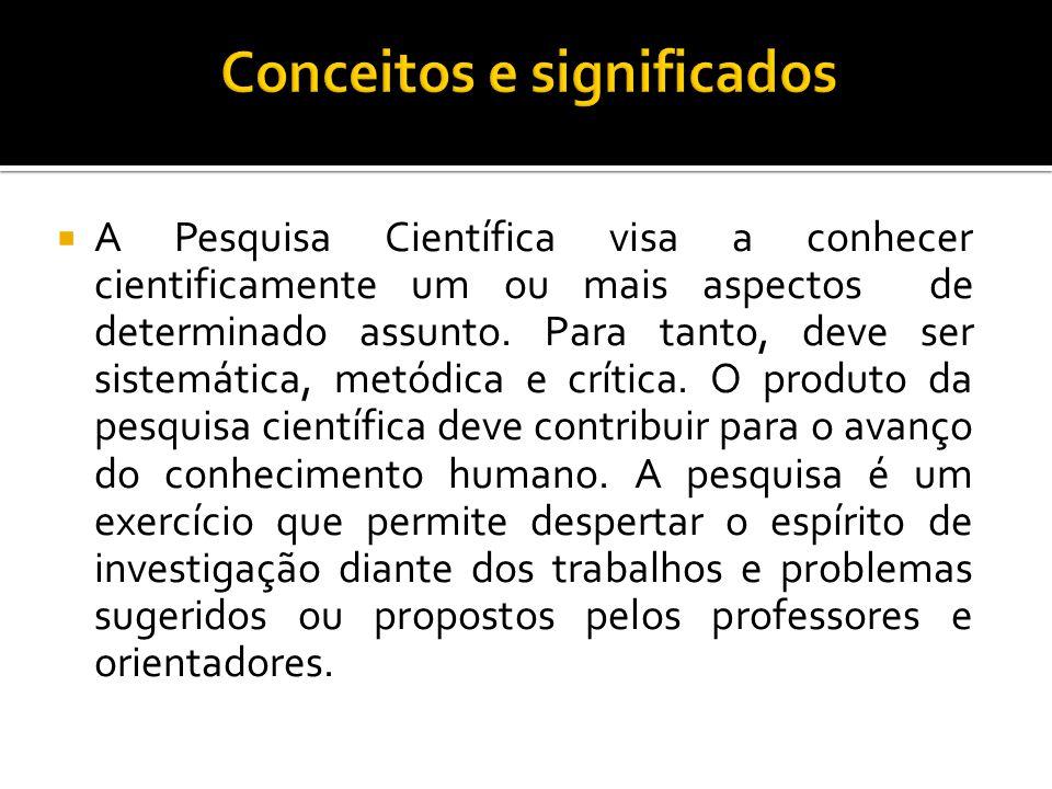 Conceitos e significados