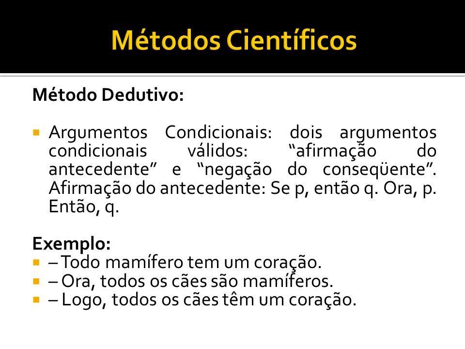 Métodos Científicos Método Dedutivo: