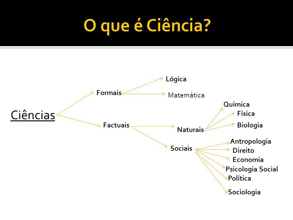 O que é Ciência Ciências Lógica Formais Matemática Química Física