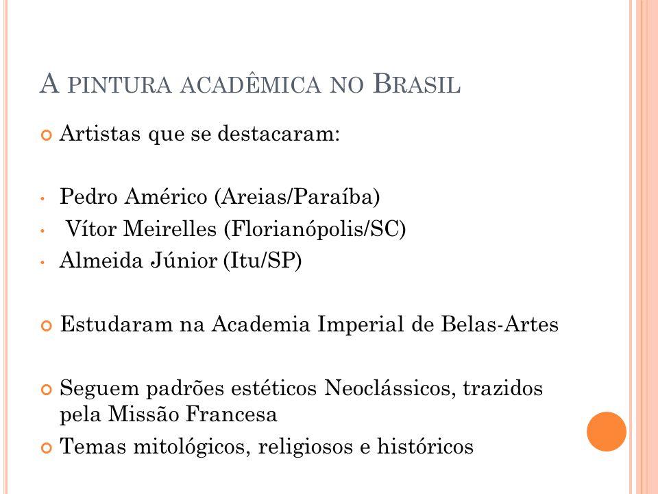 A pintura acadêmica no Brasil