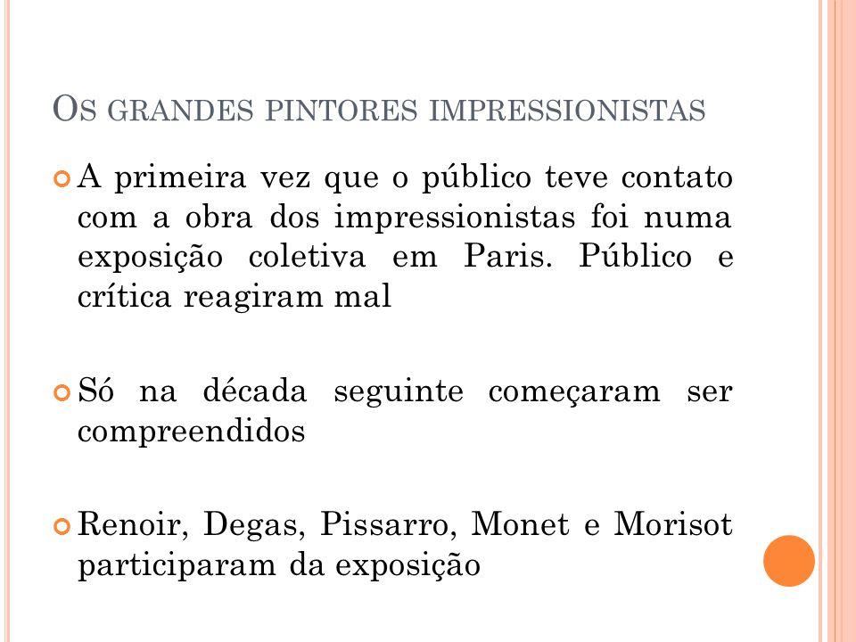 Os grandes pintores impressionistas