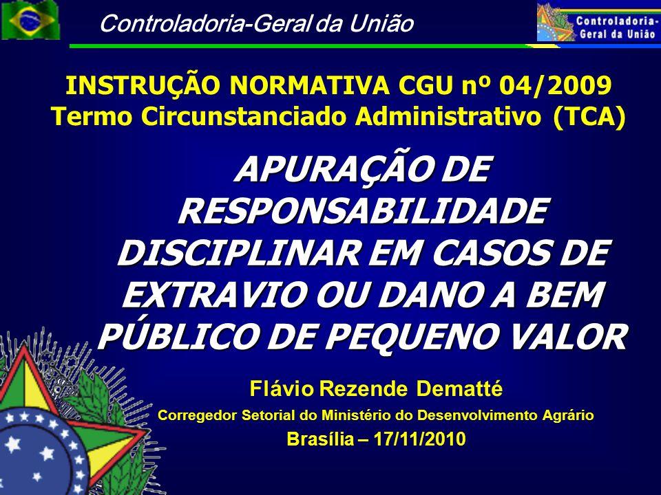 INSTRUÇÃO NORMATIVA CGU nº 04/2009