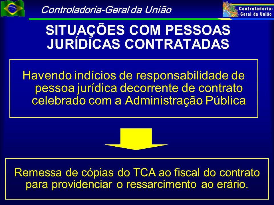 SITUAÇÕES COM PESSOAS JURÍDICAS CONTRATADAS