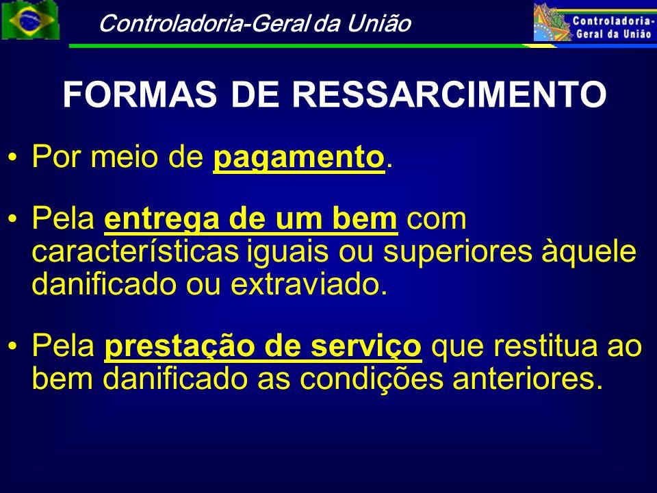 FORMAS DE RESSARCIMENTO