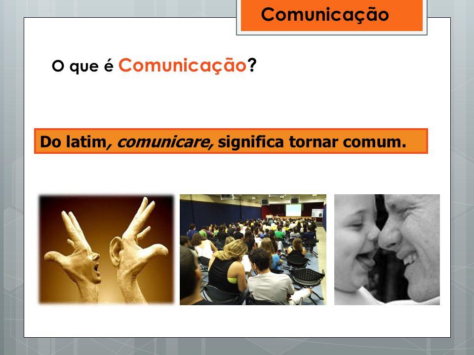 Comunicação O que é Comunicação