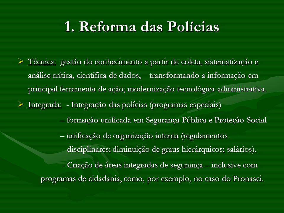 1. Reforma das Polícias